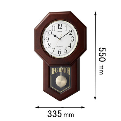 4MNA06RH06 リズム時計 電波掛け時計 モーランドR-06 [モランドR06]【返品種別A】