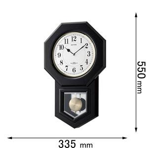 4MNA07RH02 リズム時計 掛け時計 [アンバリドR02]【返品種別A】