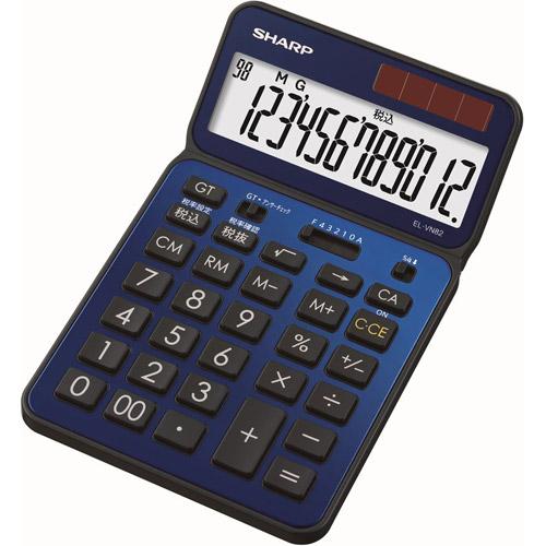 EL-VN82-AX シャープ 卓上電卓 12桁(ディープブルー) 50周年記念モデル [ELVN82AX]【返品種別A】