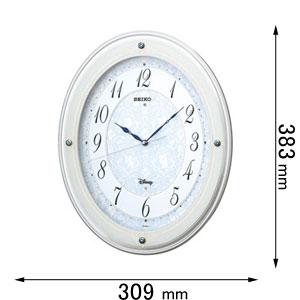 FS-502-W セイコークロック 電波掛け時計【大人ディズニー】 ディズニープリンセスシリーズ [FS502W]【返品種別A】