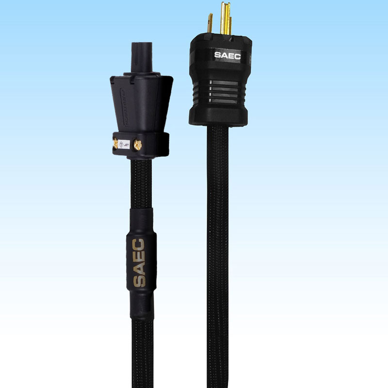 PL-5800M-1.0 サエク メガネ型プラグ用電源ケーブル(1.0m) SAEC