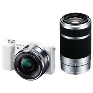 ILCE-5100Y-W ソニー デジタル一眼カメラ「α5100」ダブルズームレンズキット(ホワイト) SONY α5100