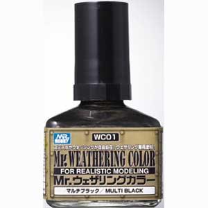 Mr.ウェザリングカラー マルチブラック【WC01】 塗料 GSIクレオス