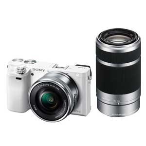 ILCE-6000Y-W ソニー デジタル一眼カメラ「α6000」ダブルズームレンズキット(ホワイト)