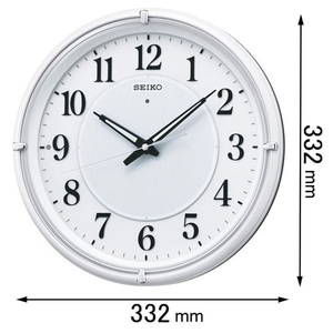 KX-393-W セイコークロック 電波掛け時計 [KX393W]【返品種別A】