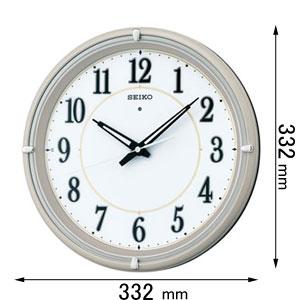 KX-393-G セイコークロック 電波掛け時計 [KX393G]【返品種別A】