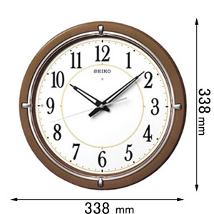 KX-395-B セイコークロック 電波掛け時計 [KX395B]【返品種別A】