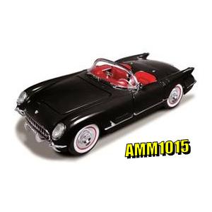 1/18 シボレー コルベット コンバーチブル 1954(ブラック)【AMM1015】 アメリカンマッスル