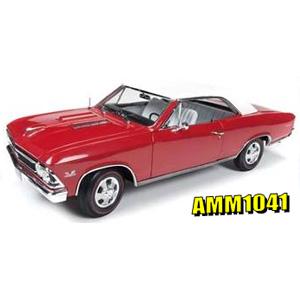 1/18 1966 シボレー シェベル SS 「クリスマスエディション」(レッド/ホワイト)【AMM1041】 アメリカンマッスル
