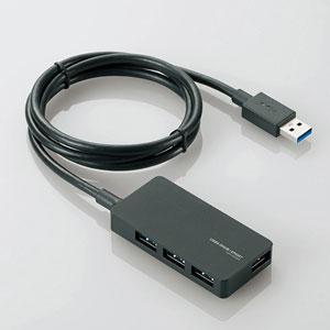 U3H-A408SBK エレコム USB3.0対応ACアダプタ付き4ポートUSBハブ(ブラック)