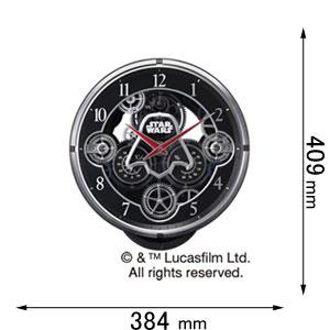 KARAKURI CLOCK / スター・ウォーズ リズム時計 からくり時計 【スター・ウォーズ】 4MN533MC02 [KARAKURIスタウオズ]【返品種別A】