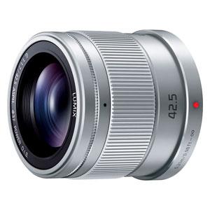 H-HS043-S パナソニック LUMIX G 42.5mm/F1.7 ASPH./POWER O.I.S.(シルバー) ※マイクロフォーサーズ用レンズ