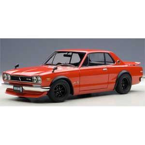 1/18 日産 スカイライン GT-R(KPGC10)チューンド・バージョン(レッド)【77444】 オートアート