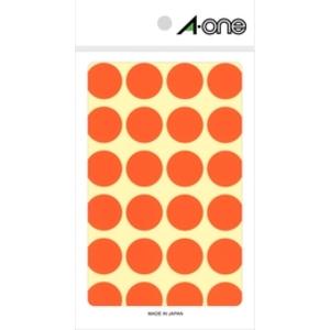 07045(カラーラベル) エーワン カラーラベル 丸型 20mmφ(橙) A-one