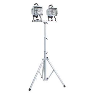 HS500LW 日動工業 ハロゲン投光器 ハロスター500 100V 500Wハロゲン 二灯三脚式