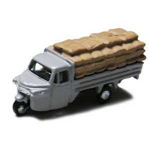 鉄道模型 交換無料 オンライン限定商品 津川洋行 N NC-120 グレー 積載仕様 オート三輪 穀物袋