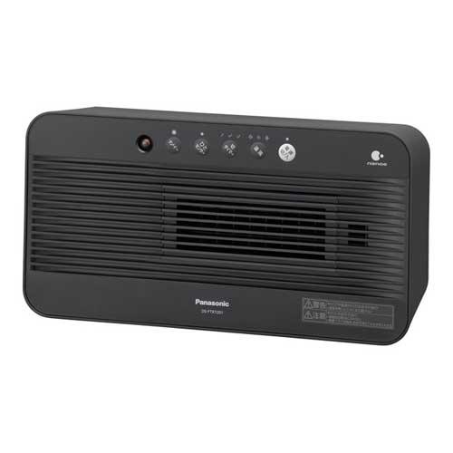 DS-FTX1201-K パナソニック ひとセンサー搭載セラミックファンヒーター(ブラック) 【暖房器具】Panasonic nanoe(ナノイー)搭載