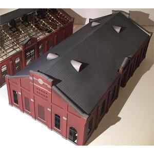 [鉄道模型]フローベルデ (HO) 433 旧丸山変電所 A棟 機械室(ペーパー製塗装済キット)