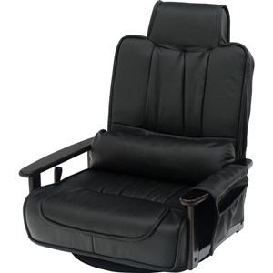 83-865 ヤマソロ 回転座椅子 大(ブラック) YAMASORO フリージア