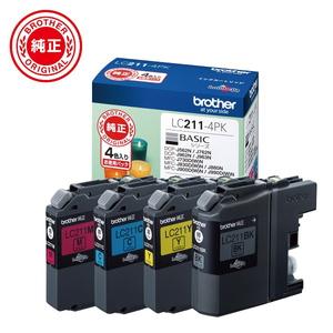 LC211-4PK ブラザー 4色入り 純正インク 激安通販販売 期間限定特価品