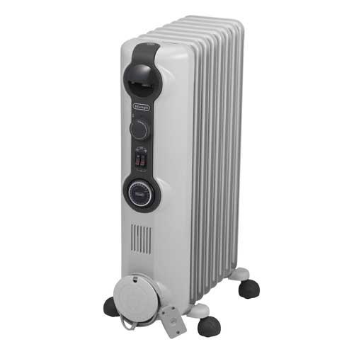 HJ0812 デロンギ オイルヒーター(8~10畳 ホワイト+ミディアムグレー) 【暖房器具】De'Longhi