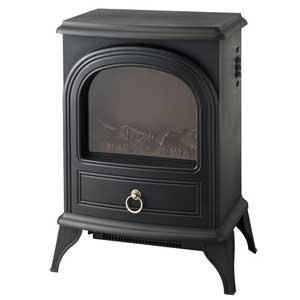 CHT-1540BK スリーアップ 暖炉型ファンヒーター(ブラック) 【暖房器具】Three-up Nostalgie(ノスタルジア)