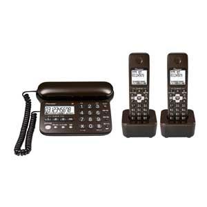 TF-SD15W-TD パイオニア デジタルコードレス留守番電話機(子機2台)ダークブラウン Pioneer
