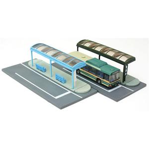 鉄道模型 トミーテック N バス停A4 往復送料無料 メーカー再生品 情景小物007-4