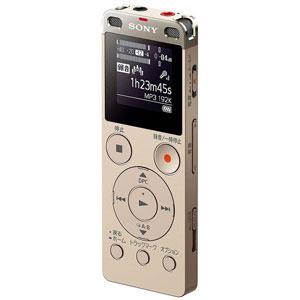 ICD-UX560FNC【税込】 ソニー リニアPCM対応ICレコーダー4GBメモリ内蔵+外部マイクロSDスロット搭載(ゴールド) SONY
