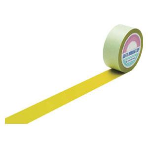 148053 日本緑十字社 ラインテープ(ガードテープ)屋内用 幅50mm×長さ100m(イエロー)1巻