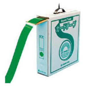 149032 日本緑十字社 ラインテープ(ガードテープ)再剥離タイプ 屋内用 幅50mm×長さ100m(グリーン)1巻