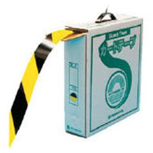 149036 日本緑十字社 ラインテープ(ガードテープ)再剥離タイプ 屋内用 幅50mm×長さ100m(イエロー/ブラック)1巻