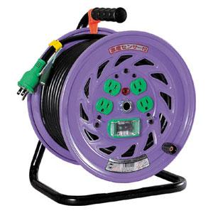 NFEB34 日動工業 電工ドラム 標準型100Vドラム アース漏電しゃ断器付 30m