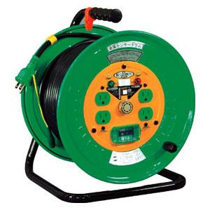 KSEB34 日動工業 金属センサードラム 100V アース漏電しゃ断器付 30m
