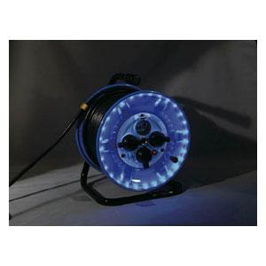 NPWLEB33G 日動工業 防雨型電工ドラム LEDラインドラム 緑