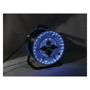 NPWLEK33B 日動工業 防雨型電工ドラム LEDラインドラム 青
