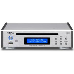 PD-301-S ティアック USB搭載ワイドFM対応CDプレーヤー(シルバー) TEAC