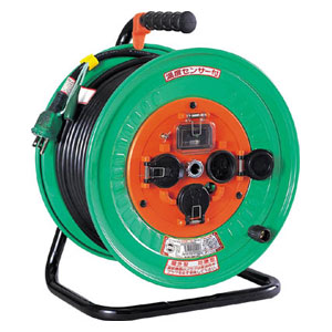 NWEB33 日動工業 電工ドラム 防雨防塵型100Vドラム アース漏電しゃ断器付 30m