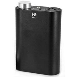 M-03/BK キングサウンド ポータブルヘッドフォンアンプ(ブラック)【エレクトロスタティック型ヘッドフォン出力対応】 KingSound