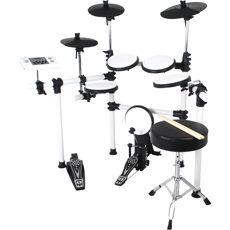 DD-504J-DIY KIT/WH メデリ デジタルドラムセット(ホワイト)【ドラムスローン(椅子)付属】 MEDELI