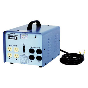 TB500D 日動工業 変圧器 降圧専用トラパック 5KVA