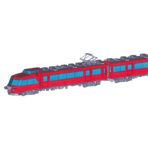 [鉄道模型]ネコ・パブリッシング (HO) 名鉄7000系パノラマカー 中間車2両セット 未塗装組立キット(ディスプレイモデル・プラキット)