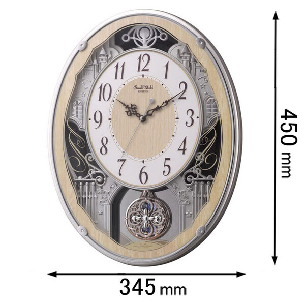4MN538RH23 リズム時計 アミューズ時計 スモールワールド グラッセ [スモルワルドグラツセ23]【返品種別A】