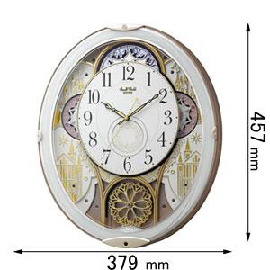 4MN539RH03 リズム時計 電波からくり時計 スモールワールドノエルN [スモルワルドノエルN03]【返品種別A】