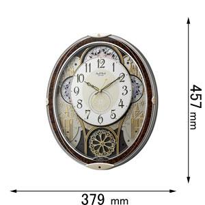 スモールワールドノエルN-23 リズム時計 からくり時計 4MN539RH23 [スモルワルドノエルN23]【返品種別A】