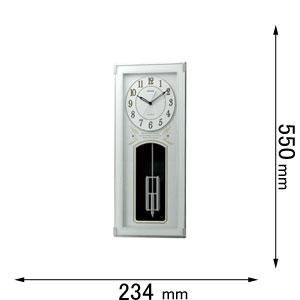 4MN536SR05 リズム時計 電波掛け時計 アミューズ時計 ソフイアーレレーヴ [ソフイアレレヴ]【返品種別A】