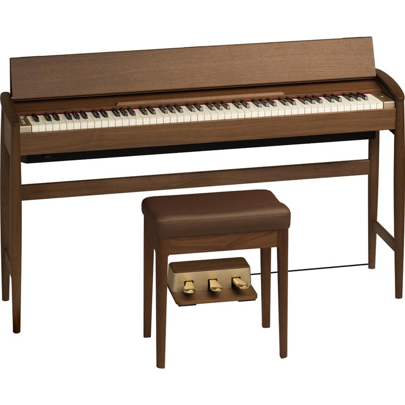 KF-10-KW ローランド&カリモク 電子ピアノ(ウォールナット)【専用固定椅子付き】 Roland Piano Digital KIYOLA