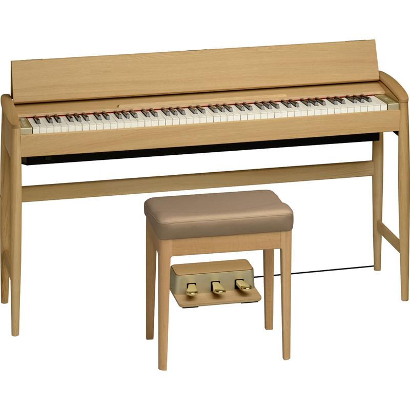 KF-10-KO ローランド&カリモク 電子ピアノ(ピュアオーク)【専用固定椅子付き】 Roland Piano Digital KIYOLA