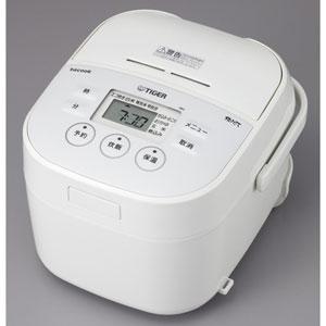 JBU-A551W タイガー マイコン炊飯ジャー(3合炊き) ホワイト TIGER 炊きたて 大人のtacook(タクック)
