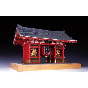 1/50 木製模型 浅草寺 雷門 (塗装タイプ)  ウッディジョー